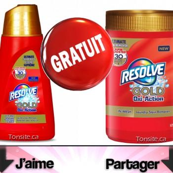 resolve free 350x350 - GRATUIT: Obtenez un produit Resolve Gold Oxi-Action gratuit!
