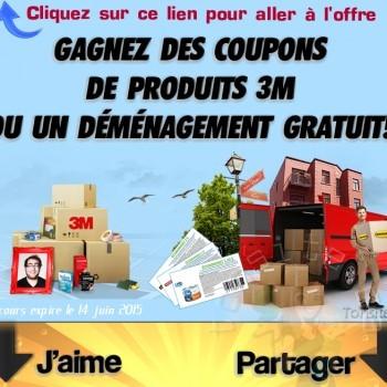 3m concours jpg 350x350 - Concours 3M: Gagnez des coupons de produits 3M ou un déménagement gratuit