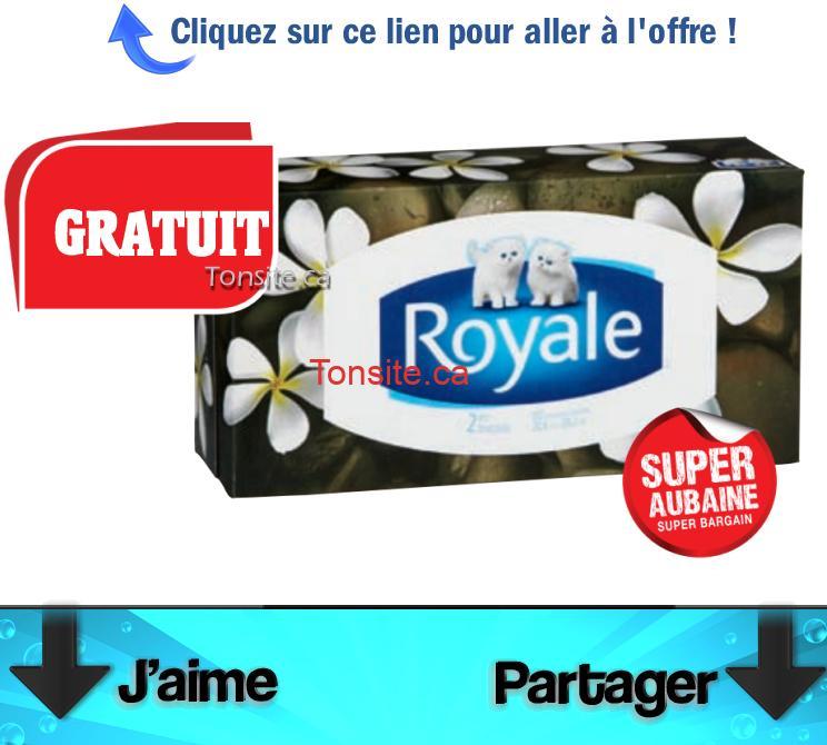 BOITE ROYALE FREE 22222 - Obtenez une boîte de papier mouchoirs Royale GRATUITEMENT