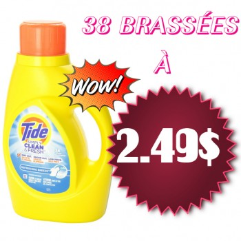 TIDE SYMPLY CLEAN 2.49 350x350 - Détergent à lessive Tide Simply Clean & Fresh à 2,49$ au lieu de 5,98$ après coupon
