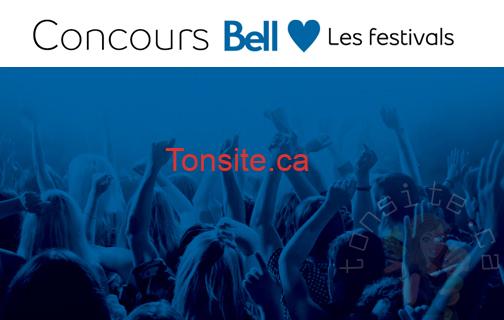 bell canada - Gagnez une expérience VIP aux FrancoFolies, au Festival International de Jazz de Montréal ou au Festival d'été de Québec grâce à Bell!