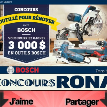 bosch rona jpg 350x350 - Concours Rona: Gagnez 1 des 3 ensembles outils Bosch de 3000$