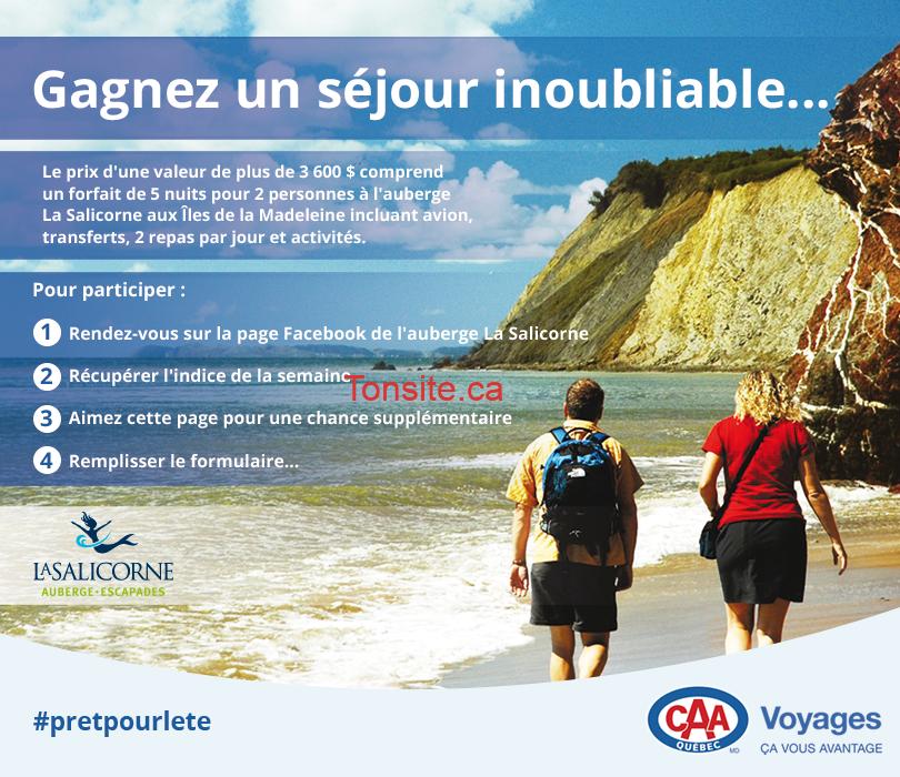caa quebec concours - Concours CAA-Québec: Gagnez un forfait de 5 nuits tout inclus pour 2 aux îles de Madeleine