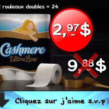 cashmere 2 97 jpg 350x350 - 12 rouleaux doubles (=24 rouleaux simples)  du papier hygiénique  Cashemere Ultra Luxe à 2,97$ au lieu de 9,88$