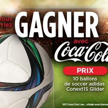 couchetard coca adidas 350x350 - Concours Couche-Tard: Gagnez 1 des 10 ballons de soccer Adidas avec Coca-Cola !