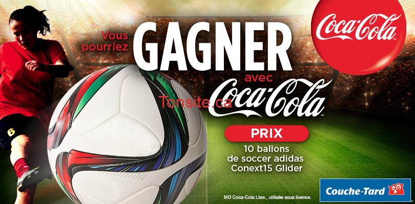 couchetard coca adidas - Concours Couche-Tard: Gagnez 1 des 10 ballons de soccer Adidas avec Coca-Cola !