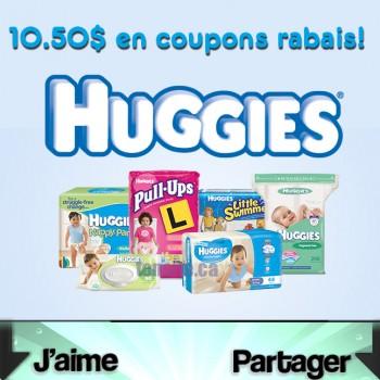 coupon rabais huggies 350x350 - 7 nouveaux coupons rabais sur les produits Huggies!