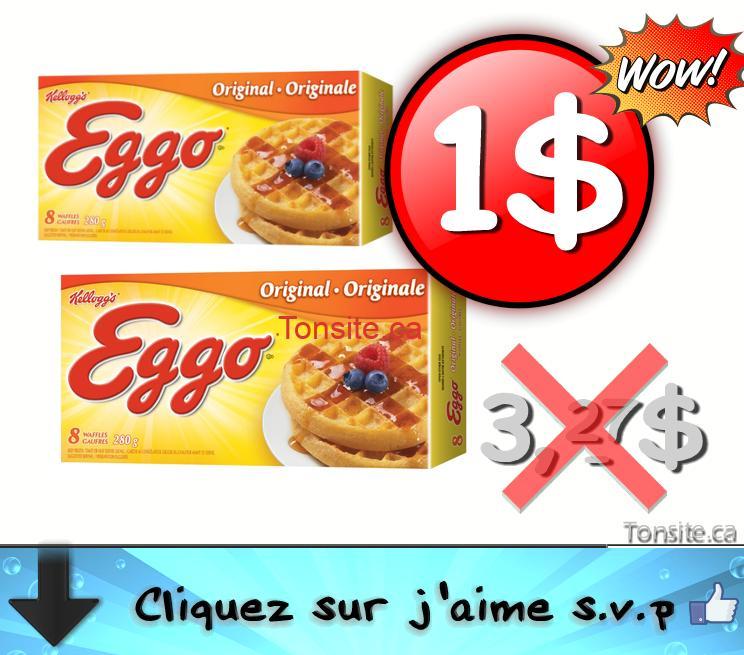 Photo of Emballage de 8 gaufres Eggo à 1$ au lieu de 3,27$