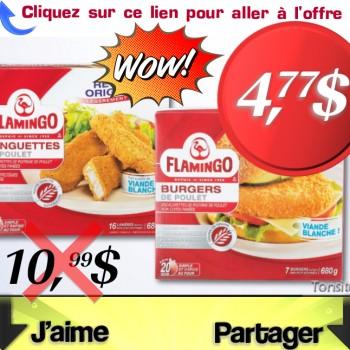flamingo 477 jpg 350x350 - Flamingo Lanières, pépites, burgers ou bâtonnets de poulet panés à 4,77$ au lieu de 10,99$