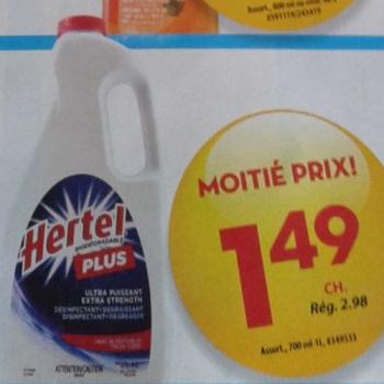 hertel 149 jpg 350x350 - Désinfectant Ultra Puissant Hertel Plus à 1,49$ au lieu de 2,98$