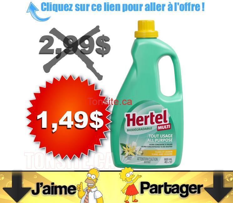 hertel 149 - Nettoyant Hertel à 1,49 au lieu de 2,98$ (sans coupon)