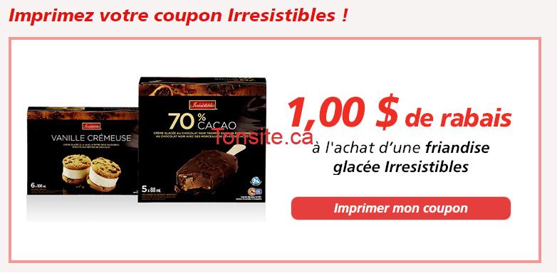 irresistibles coupon