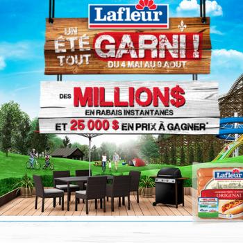 lafleur concours 350x350 - Concours LaFleur: Des millions en rabais instantanés et 25.000$ en prix à gagner!