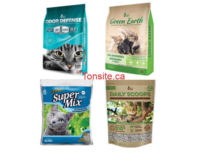 laitiere - Coupon rabais de 2$ sur une litière Cat Love ou Catit sélectionnée - litière Odor Defense, litière Green Earth, litière Super Mix, ou litière Daily Scoops