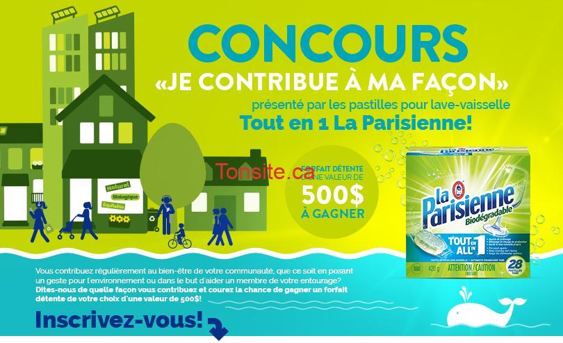 Photo of Concours La Parisienne: Gagnez une carte-cadeau pour un forfait détente de 500$