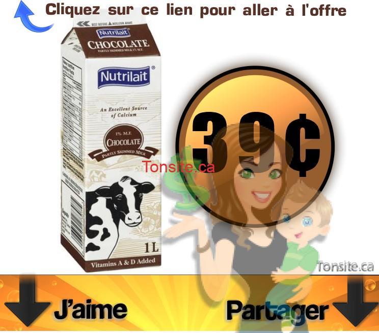 nutrilait chocolat 39 - contenant du lait au chocolat Nutrilait à 39¢ seulement!