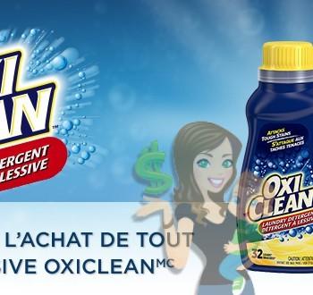 oxiclean 150 coupon 350x330 - Coupon rabais caché de 1,50$ sur tout détergent à lessive Oxiclean