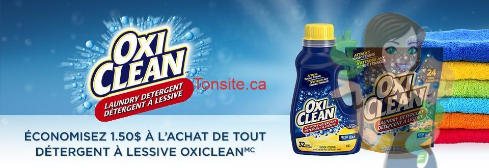 oxiclean 150 coupon - Coupon rabais caché de 1,50$ sur tout détergent à lessive Oxiclean