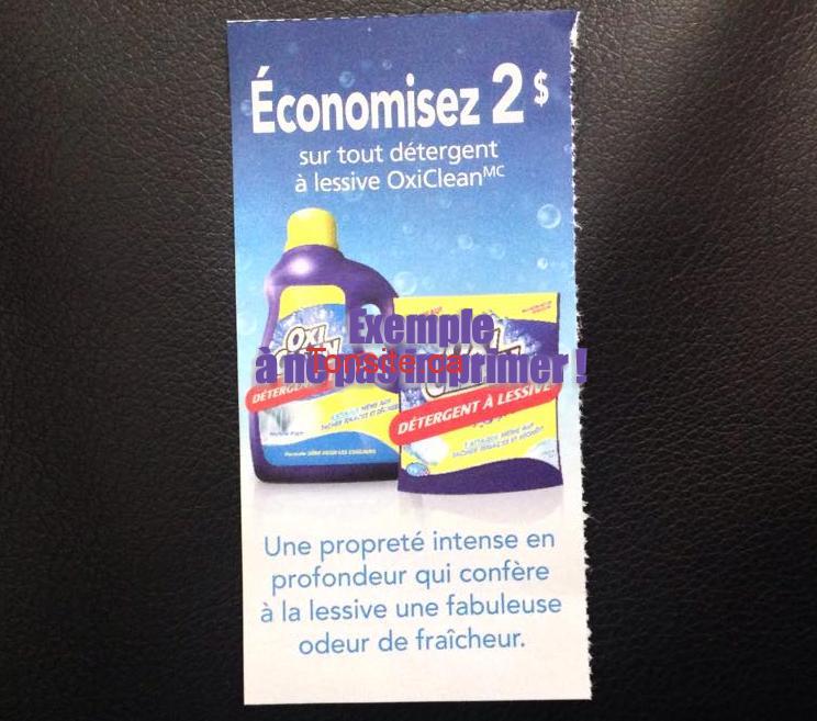 oxiclean coupon2 - Détergent à lessive Oxi Clean à 1,97$ au lieu de 7,97$