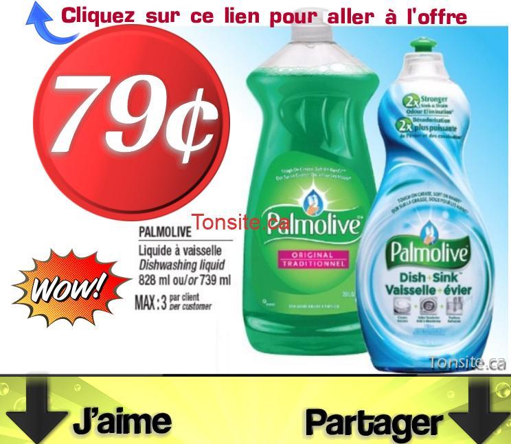 palmolive 79 jpg - Liquide à vaisselle Palmolive à 79¢ seulement