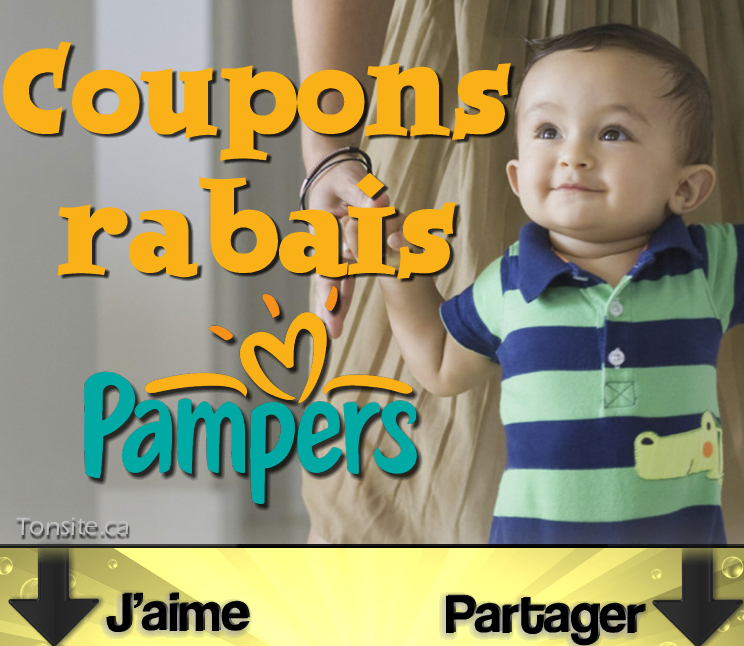 pampers coupons rabais