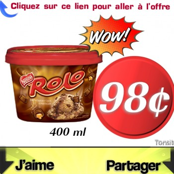 rolo 98 jpg 350x350 - Contenant de crème glacée Rolo de Nestlé 400ml à 98¢ seulement !