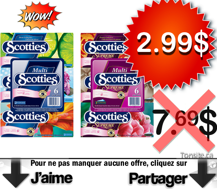 Scotties coupon de mouchoir