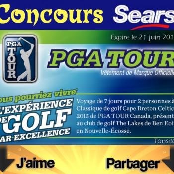 sears concours 1 350x350 - Concours Sears: Gagnez une voyage de 7 jours pour 2 personnes en Nouvelle-Écosse pour vivre une expérience de golf en excellence!