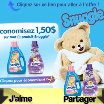 snuggle coupon 150 350x350 - Coupon rabais de 1,50$ sur tout produit Snuggle