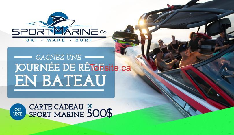 sportmarine jpg - Concours Sport Marine: Gagnez une journée de rêve en bateau ou 1 carte-cadeau de 500$