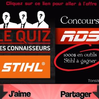 stihl rds concours 350x350 - Concours RDS: Gagnez 1 des 4 chèques-cadeaux de STIHL d'une valeur de 1 000$