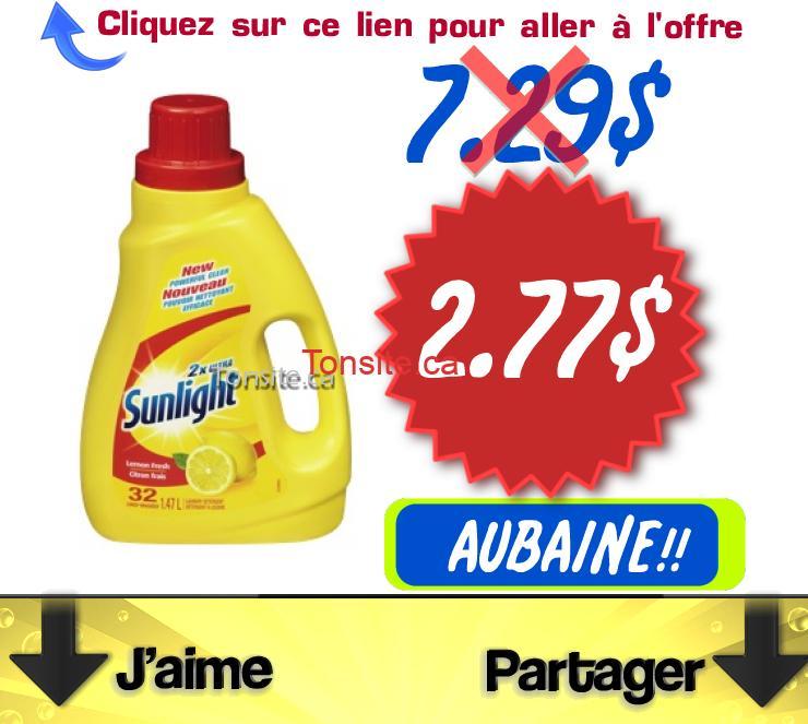 sunlight.2.77 - Détergent à lessive Sunlight à 2.77 au lieu de 7.29$