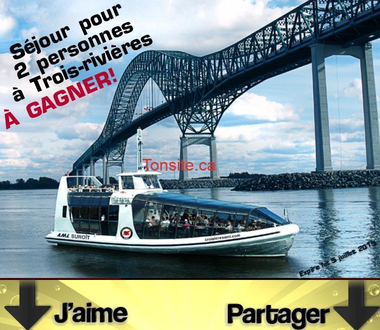Photo of Concours Tourisme Trois-Rivières: Gagnez un séjour pour 2 à Trois-Rivières