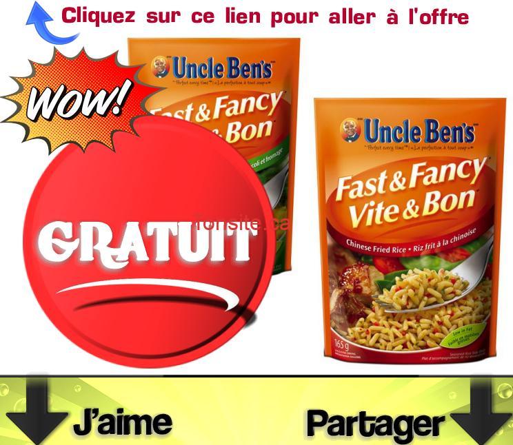 uncle bens gratuit - Riz Vite & Bon Uncle Ben's Gratuit après coupon