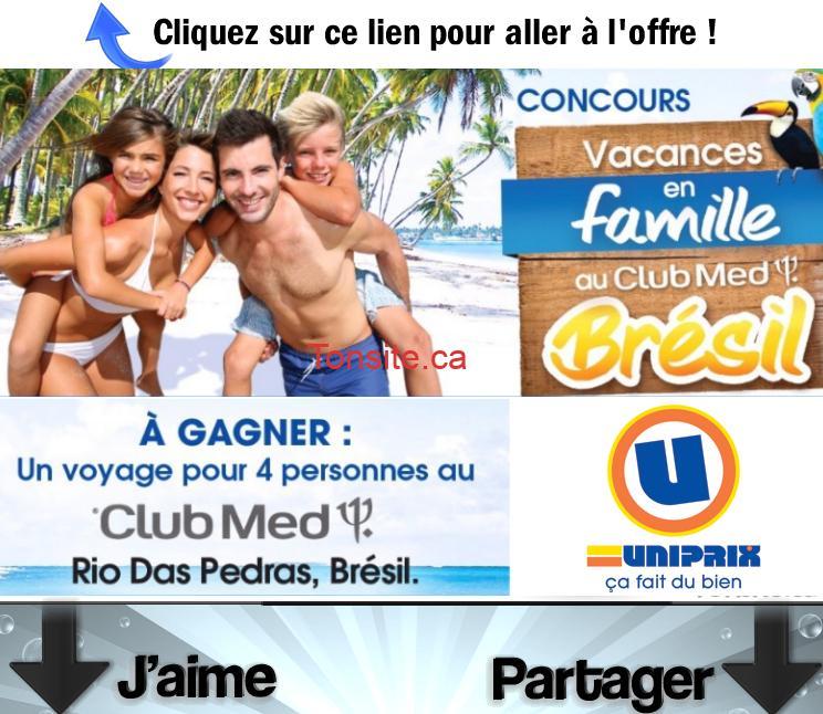 Photo of Concours Uniprix: Gagnez un voyage en famille au Club Med Rio Das Pedras au Brésil d'une valeur totale de 20.000$