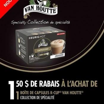 vanhoutte k cup 350x350 - Coupon rabais de 1,50$ sur une boîte de capsules K-CUP Van Houtte