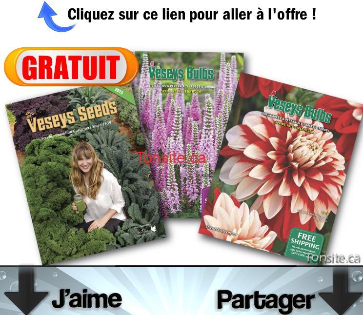 Gratuit obtenez des catalogues gratuits de jardinage veseys for Catalogue de jardinage