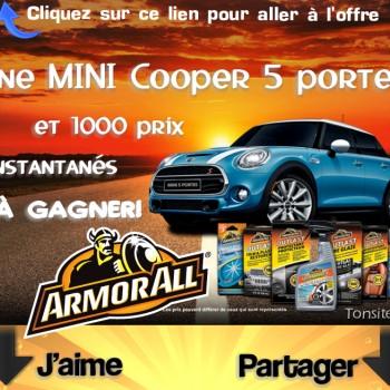 armorall jpg 350x350 - Concours ArmorALL: Gagnez une mini cooper 5 portes (valeur de 27.000$) ou 1 des 1000 prix instantanés