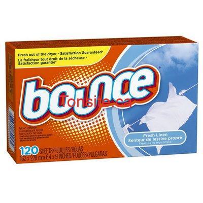 bounce 120 - Obtenez une boite de feuilles assouplissantes Bounce GRATUITEMENT