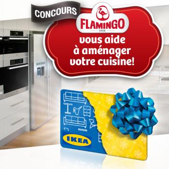 flamingo concours 350x350 - Concours Flamingo: Gagnez une carte-cadeau IKEA d'une valeur de 100$