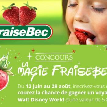 fraisebec 350x350 - Concours La Magie Fraisebec: gagnez un voyage è Walt Disney World d'une valeur de 5000$