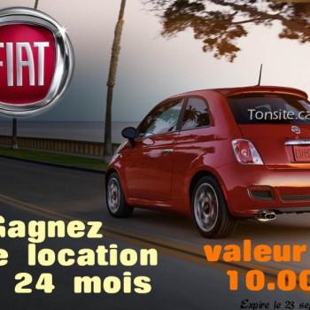 gagne ta fiat 350x350 - Concours Gagne Ta Fiat: Gagnez une location d'une Fiat 500 Pop 2015 pour 2 ans (valeur de 10 000$)
