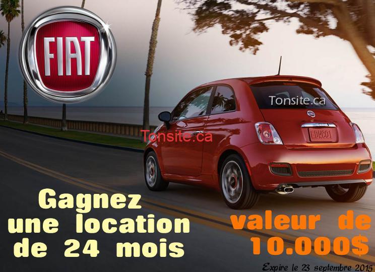 gagne ta fiat - Concours Gagne Ta Fiat: Gagnez une location d'une Fiat 500 Pop 2015 pour 2 ans (valeur de 10 000$)