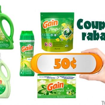 gain coupon 50 350x350 - Coupon rabais de 50¢ sur un produit pour la lessive Gain, au choix