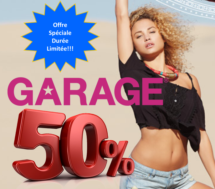 garage 50 jpg - Garage: Obtenez un rabais de 50$ sur les tous T-shirts, les chemises, les chandails et les hauts pour femmes