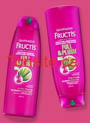 header - Demandez votre ensemble d'échantillons: shampooing, revitalisant et le traitement Voluptuous Blow Out de Garnier Full & Plush