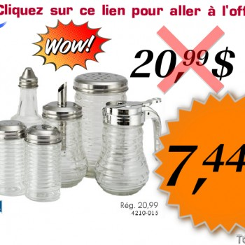 instyle1 350x350 - Coupon rabais de 64%: Ensemble de plats pour condiments Instyle à 7,44$ au lieu de 20,99$