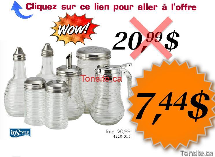 instyle1 - Coupon rabais de 64%: Ensemble de plats pour condiments Instyle à 7,44$ au lieu de 20,99$