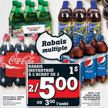 liqueur 350x350 - Boissons gazeuses (6x700ml) à 2,50$ au lieu de 5,49$