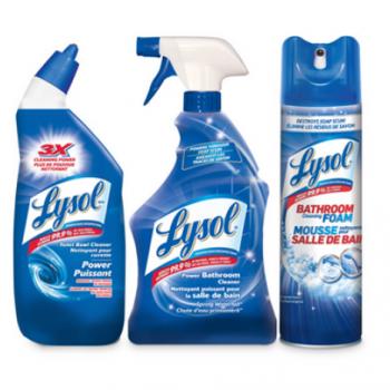 lysol01 350x350 - Coupon rabais (Achetez 1 nettoyant pour cuvette Lysol et obtenez 1 nettoyant moussant pour salle de bain Lysol ou un nettoyant pour la salle de bain Lysol en vaporisateur GRATUIT)